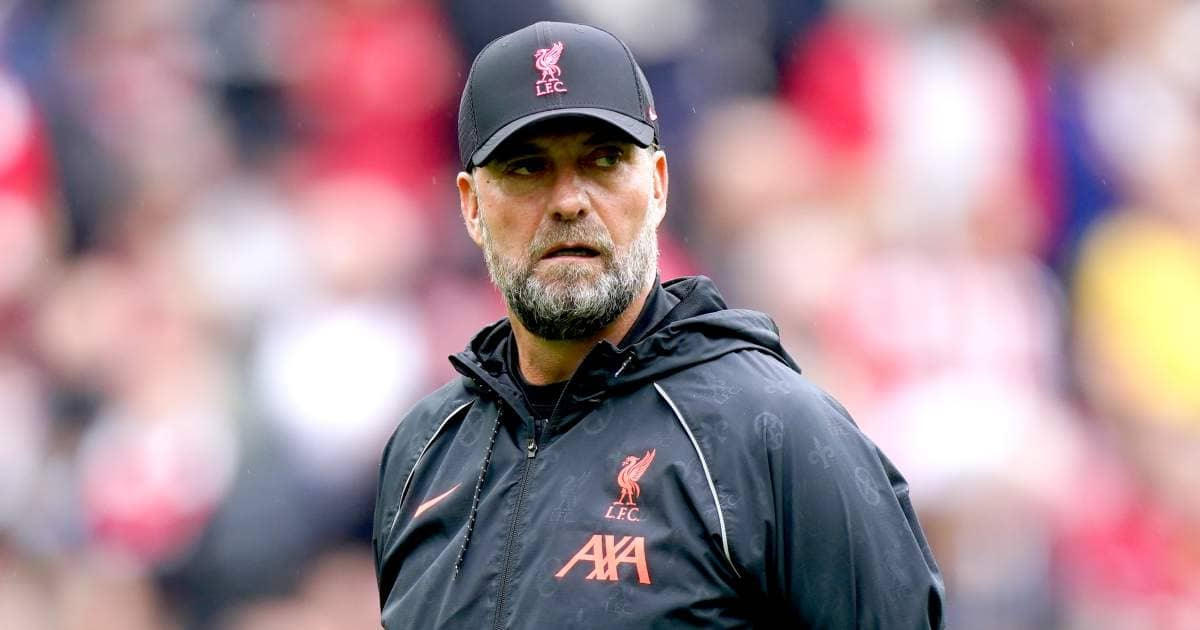 Jurgen Klopp on touchline before Liverpool v Burnley August 2021