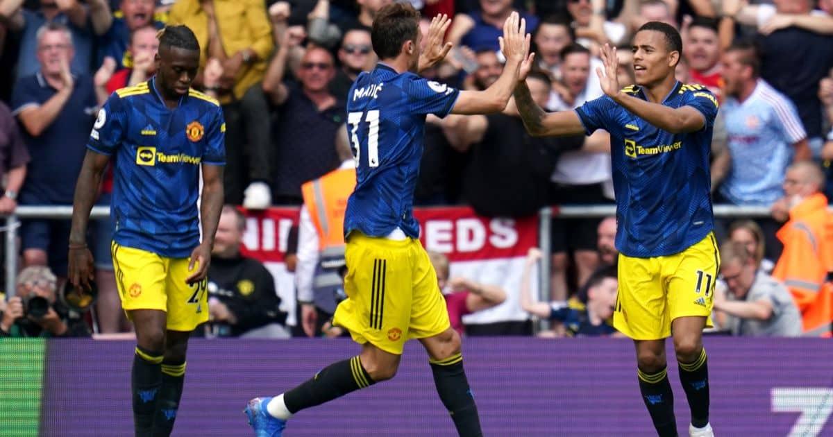Mason Greenwood, Nemanja Matic, Aaron Wan Bissaka Man Utd