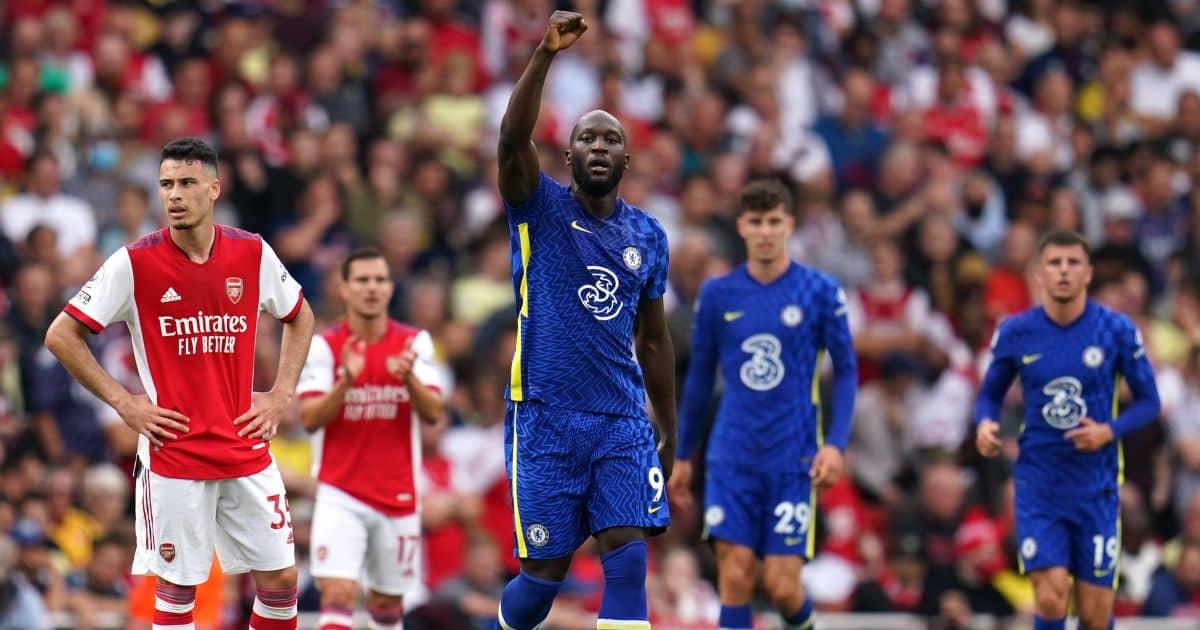 Chelsea striker Romelu Lukaku celebrates