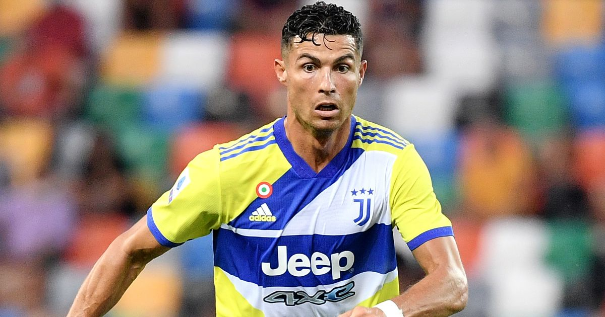 Cristiano Ronaldo from Juventus FC in action during the Serie A football match between Udinese Calcio and Juventus FC at the stadium Friuli in Udine
