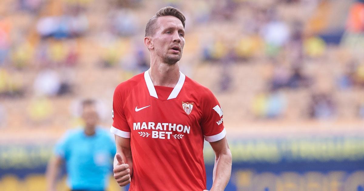 Dutch striker Luuk De Jong in action Sevilla vs Villarreal