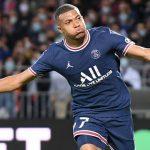 Kylian Mbappe PSG goal celebration August 2021
