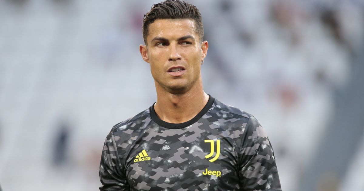 Cristiano Ronaldo during the warm-up for the friendly of Juventus vs Atalanta, August 2021