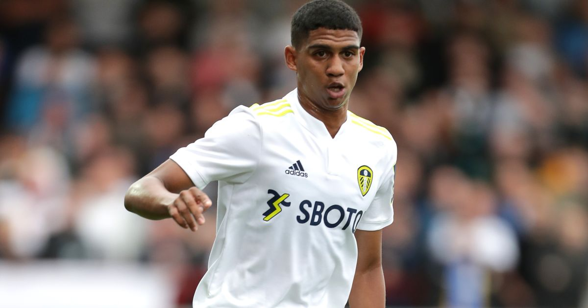 Cody Drameh during the pre-season friendly between Leeds and Fleetwood, July 2021