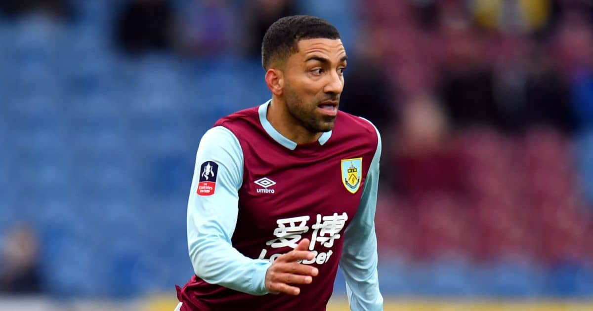 Aaron Lennon playing for Burnley in January 2020
