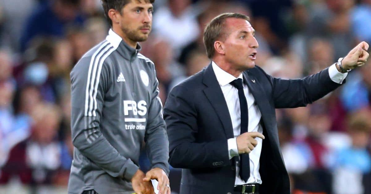 Leicester boss Brendan Rodgers sidelines August 2021