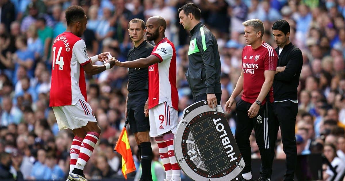Pierre-Emerick Aubameyang subbed Arsenal Man City