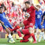 Reece James red card incident in Liverpool v Chelsea as Diogo Jota shoots