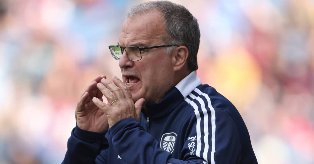 Leeds Utd manager Marcelo Bielsa on the touchline during their 1-1 draw with Burnley