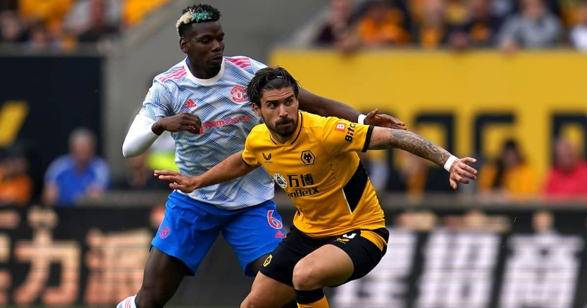 Paul Pogba of Man Utd, Ruben Neves of Wolves