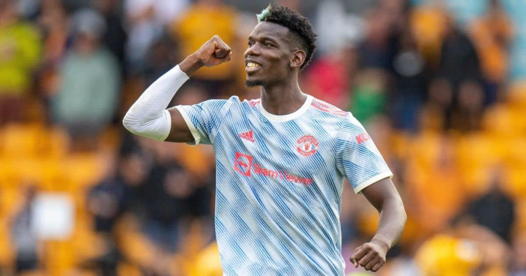 Paul Pogba celebrating Man Utd win over Wolves