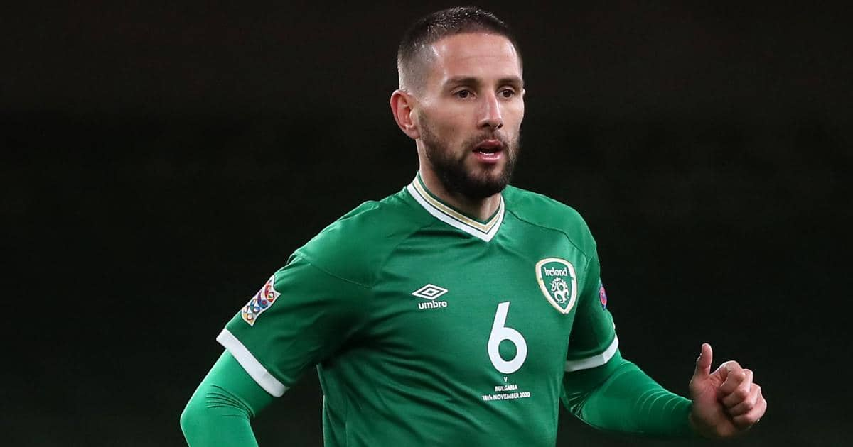 Conor Hourihane playing for Republic of Ireland