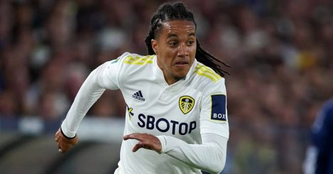 Leeds United's Helder Costa during the Carabao Cup second round match at Elland Road against Crewe