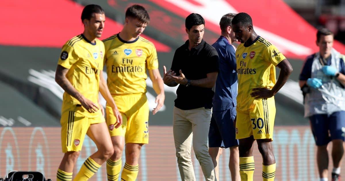 Arsenal players Eddie Nketiah and Kieran Tierney
