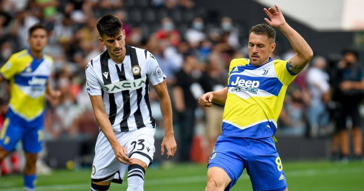 Aaron Ramsey Ignacio Pussetto Udinese v Juventus