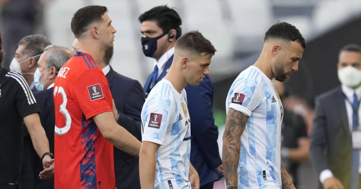 Nicolas Otamendi Giovani Lo Celso Emi Martinez abandoned Argentina game