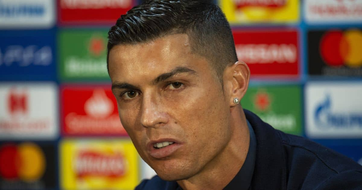 Juventus' Cristiano Ronaldo attends a press conference in Manchester, Britain, 22 October 2018. Juventus FC will face Manchester United in their UEFA Champions League group H