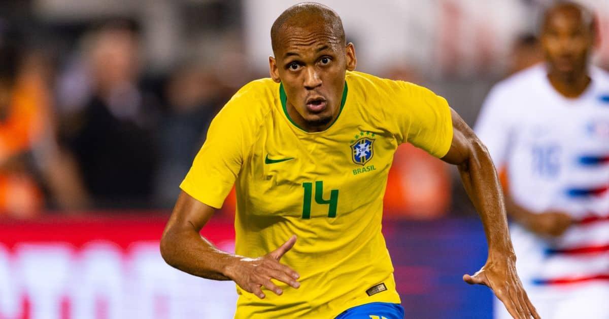 Brazil midfielder Fabinho in action against USA at MetLife Stadium