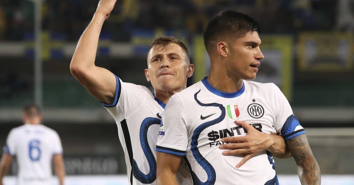 Nicolo Barella Joaquin-Correa Inter Milan August 2021
