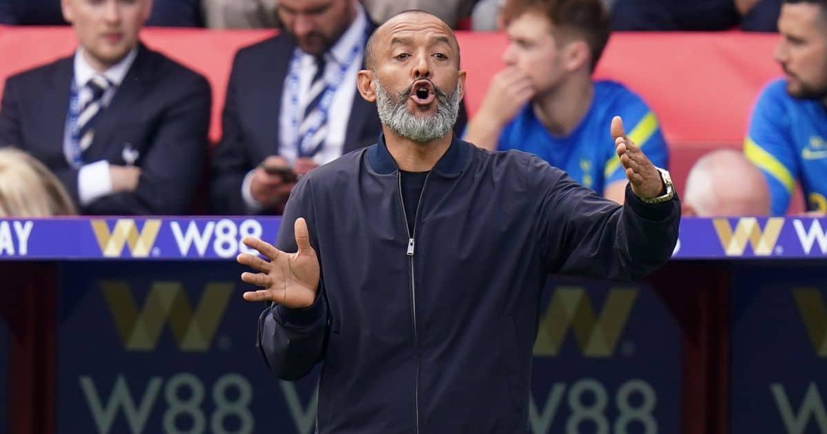 Nuno Espirito Santo Tottenham boss v Crystal palace September 2021