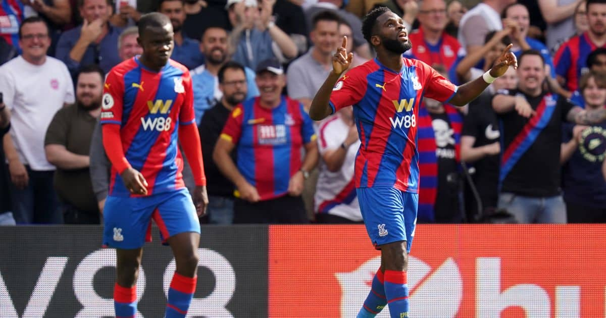 Zaha has last laugh as he reacts to scuffle with 'strong' Tottenham star
