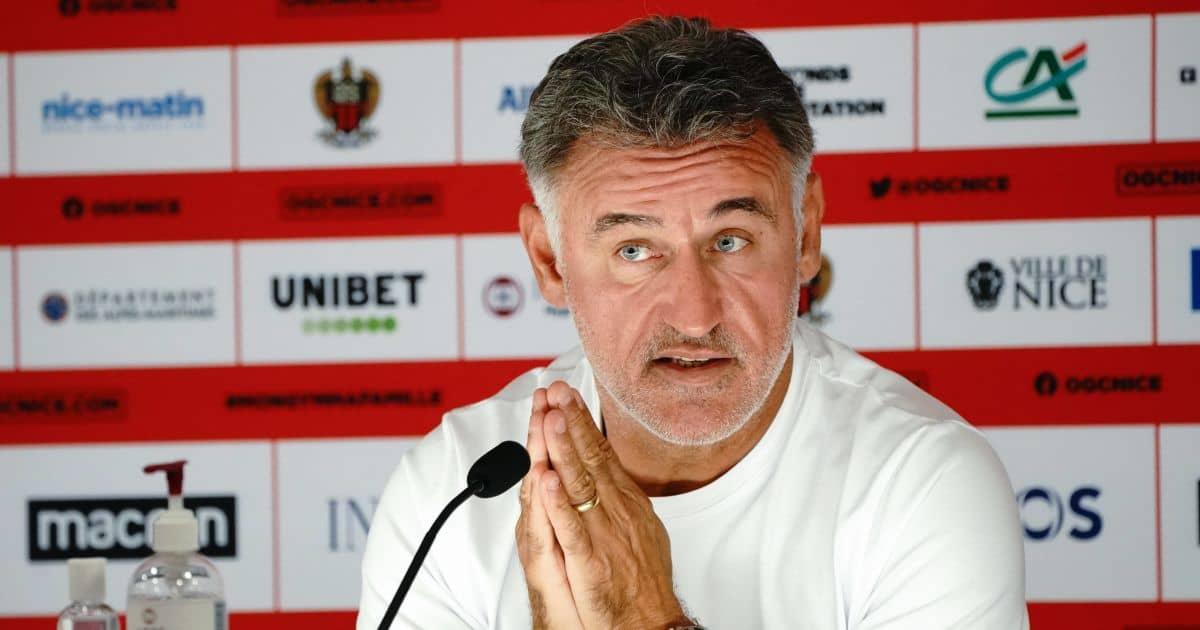 Christophe Galtier Nice press conference September 2021