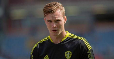 Leeds United goalkeeper Kristoffer Klaesson
