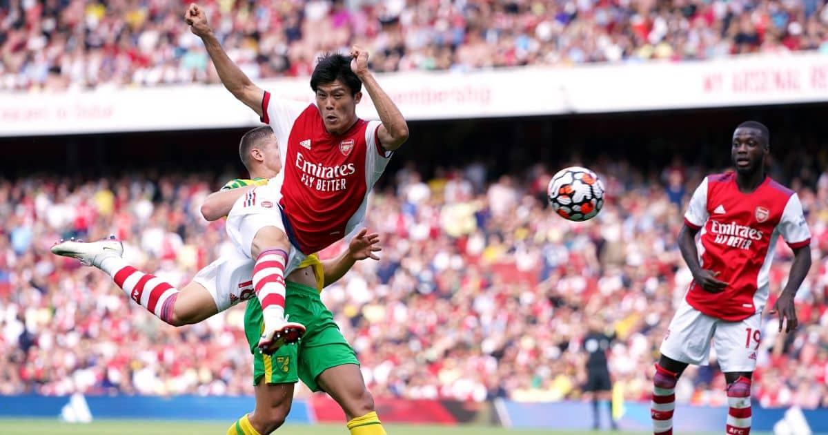 Arsenal defender Takehiro Tomiyasu