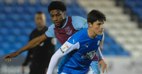 Peterborough centre-back Ronnie Edwards during an EFL Trophy match 2020