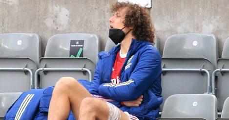 Former Arsenal defender David Luiz sat in the stands 2021