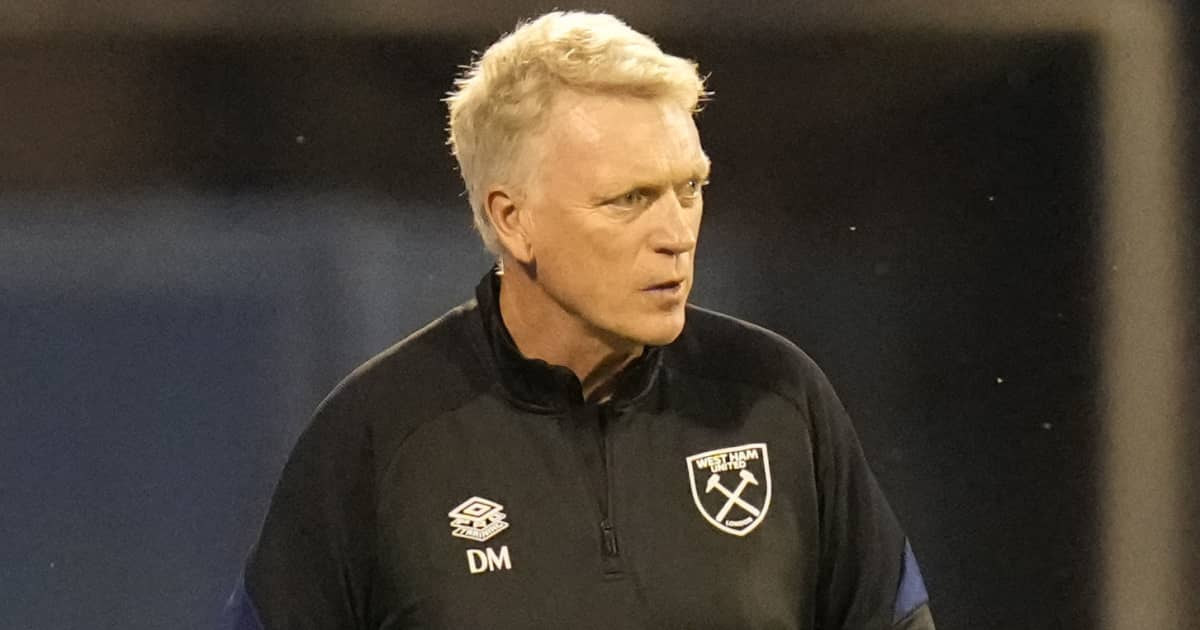 West Ham manager David Moyes during their Europa League clash with Dinamo Zagreb 2021