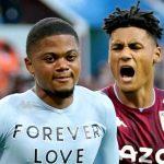 Leon Bailey and Ollie Watkins celebrate Aston Villa goal