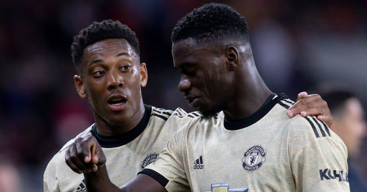 Man Utd players Axel Tuanzebe and Anthony Martial