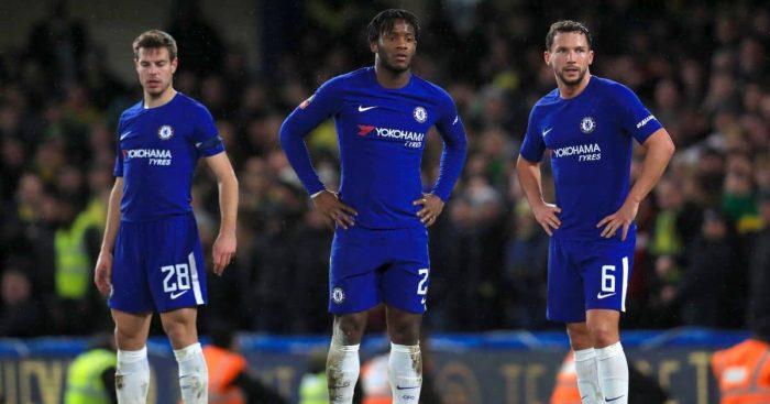 Chelsea trio Danny Drinkwater, Michy Batshuayi and Cesar Azpilicueta