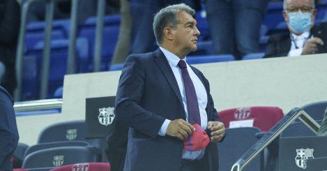 Joan Laporta Barcelona stands September 2021