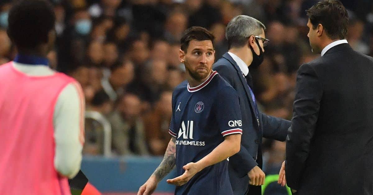 Lionel Messi Mauricio Pochettino PSG September 2021