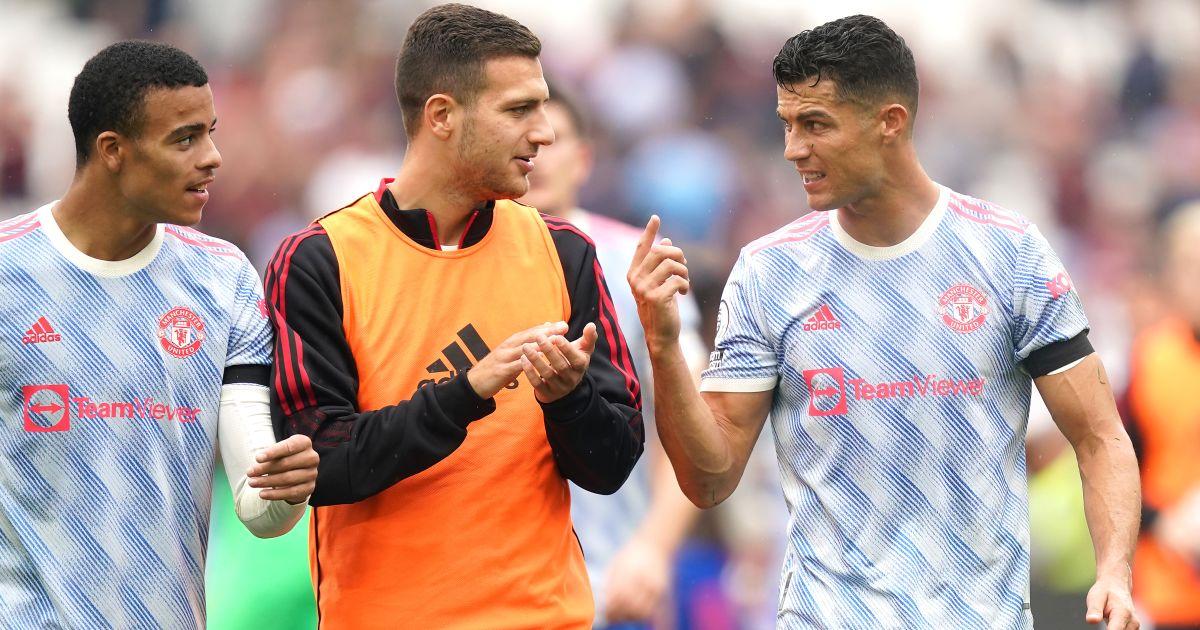 Mason Greenwood Diogo Dalot Cristiano Ronaldo Man Utd September 2021