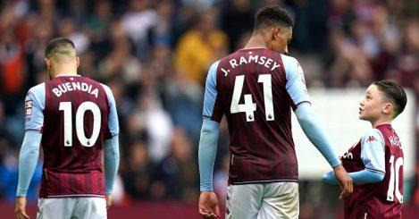 Aston Villa players Jacob Ramsey and Emiliano Buendia