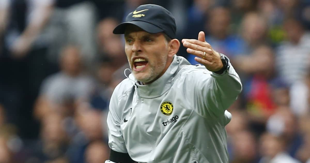 Chelsea manager Thomas Tuchel showing his anger 2021