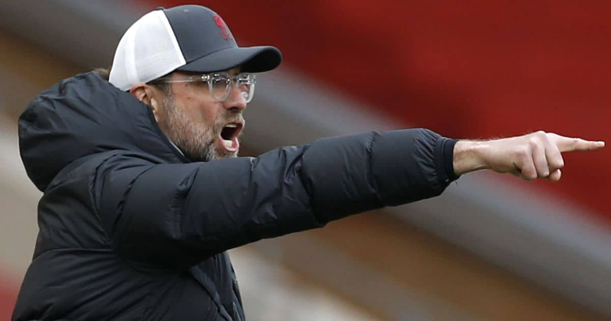 Liverpool manager Jurgen Klopp gestures on the touchline during the Premier League match at Anfield, Liverpool.