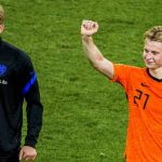 Netherlands pair Frenkie de Jong and Matthijs de Ligt 2021