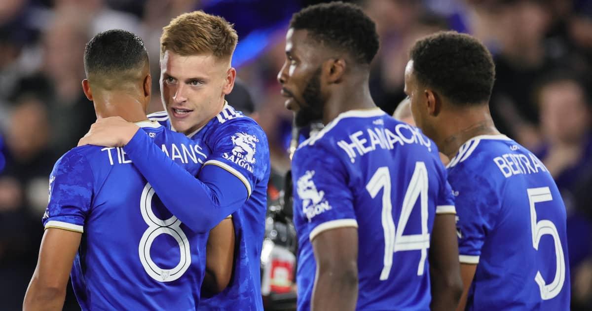 Leicester City quartet Youri Tielemans,Harvey Barnes, Kelechi Iheanacho and Ryan Bertrand 2021