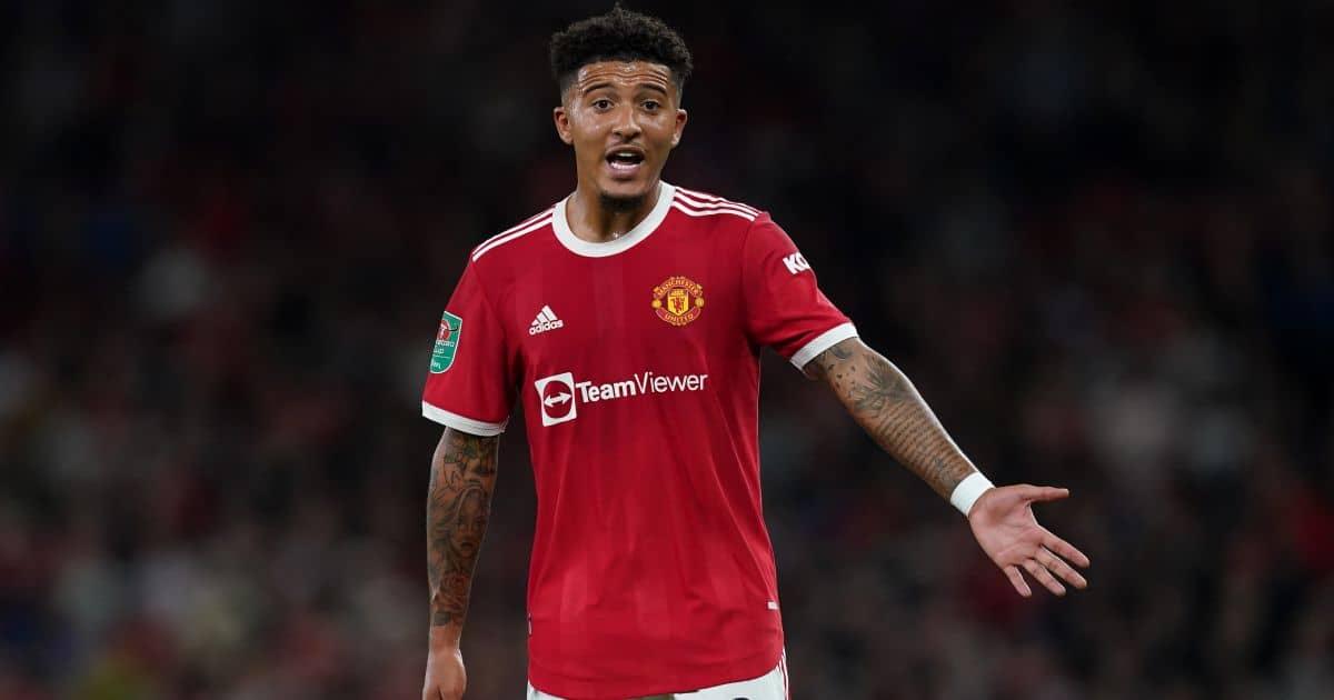 Jadon Sancho Man Utd September 2021