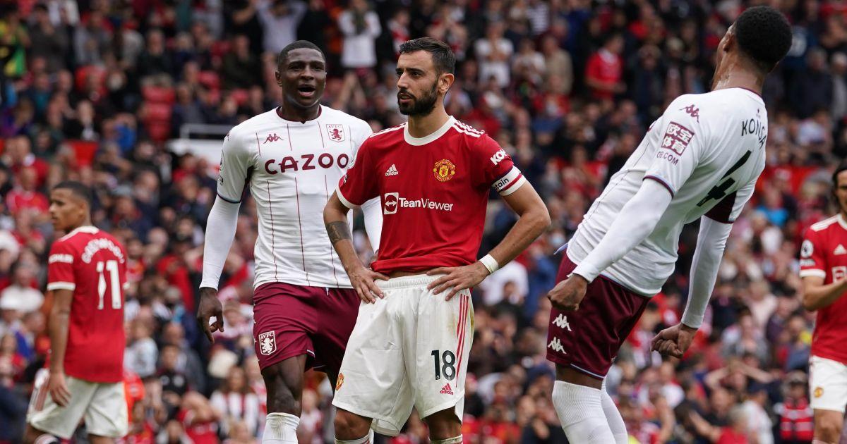 Man Utd miss stoppage-time penalty as Aston Villa stun Old Trafford late on