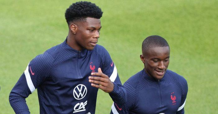 Aurelien Tchouameni and Moussa Diaby in France training