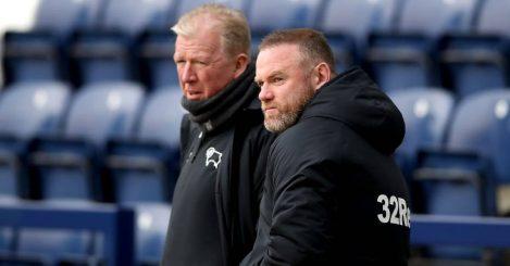 Steve McClaren and Wayne Rooney Derby County