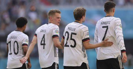 Serge Gnabry, Matthias Ginter, Thomas Muller, Kai Havertz in Euro 2020 match v Portugal
