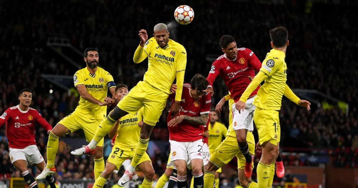 Etienne Capoue, Raphael Varane, Manchester United v Villarreal