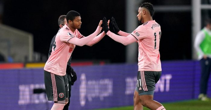 Rhian Brewster replaces Lys Mousset for Sheffield United