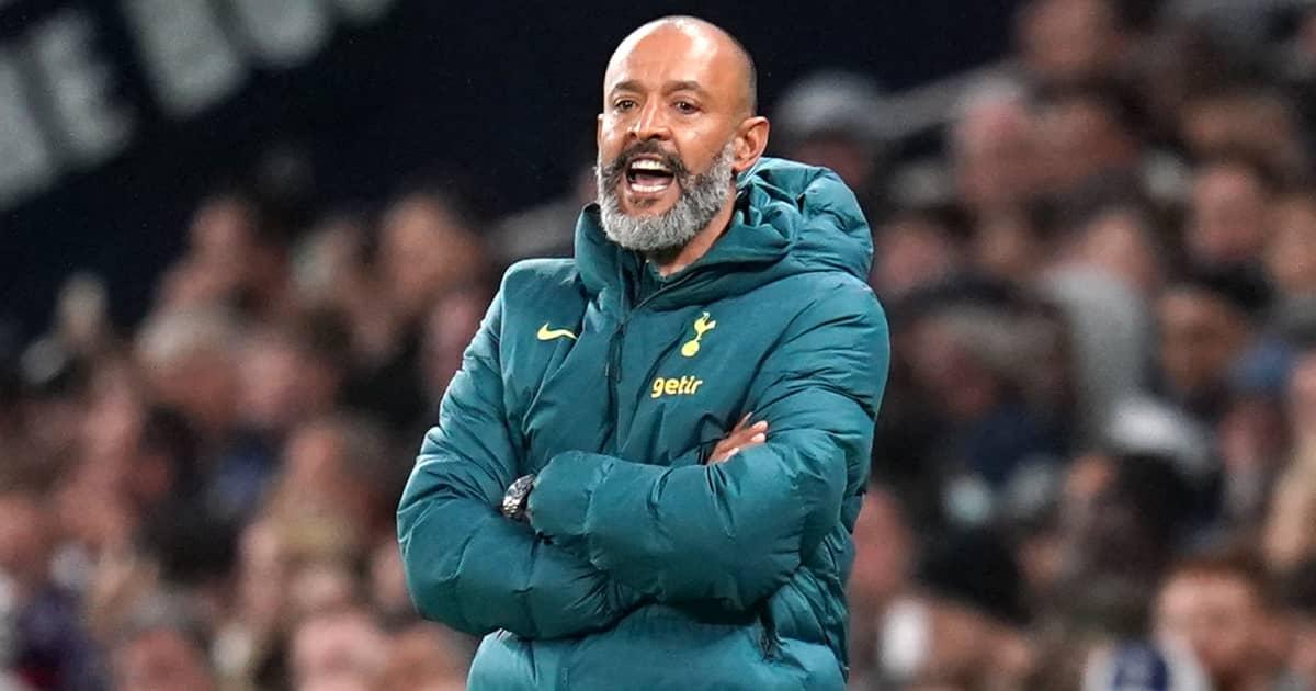 Tottenham manager Nuno Espirito Santo folding his arms 2021